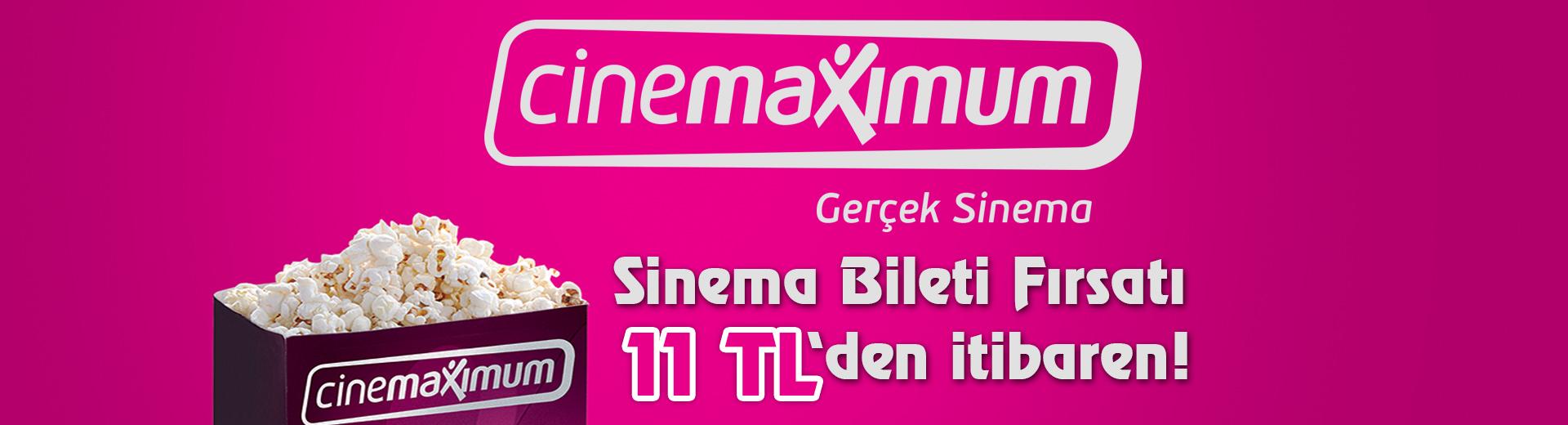 Tüm Türkiye'deki Cinemaximum'larda Geçerli Sinema Bileti veya Popcorn Seçenekleri!