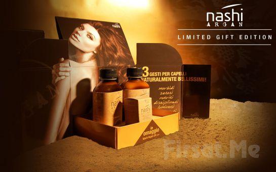 Saloon's Güzellik' ten NASHI Argan Şampuan + NASHI Argan Saç Kremi + NASHI Argan Nemlendirici ve Besleyici Bakım Yağı Fırsatı!