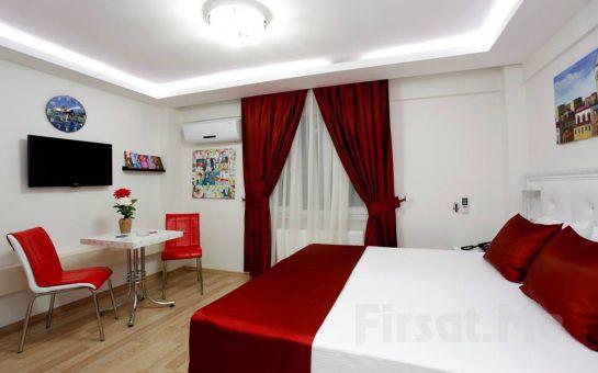 Eğlencenin Merkezi Taksim'de Eviniz Gibi Rahat Edeceğiniz Taksim İstiklal Suites'de 2 Kişi 1 Gece Konaklama Fırsatı