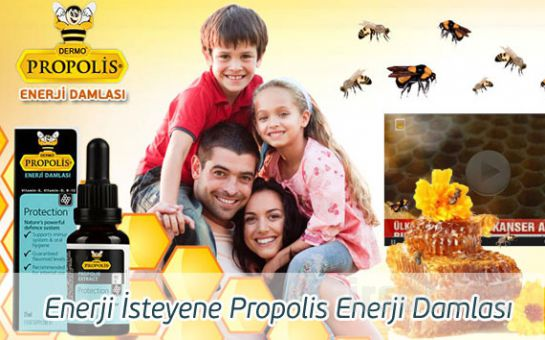 Damla Damla Mucize! %100 Orjinal Ürün Propolis Enerji Damlası!