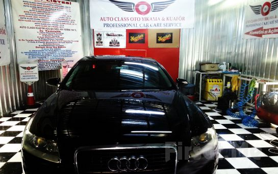 AUTO CLASS Oto Kuaför'den, Komple İç Temizliği, Detaylı Motor Temizliği, Ozonlama, Cam Suyu Kaydırıcı
