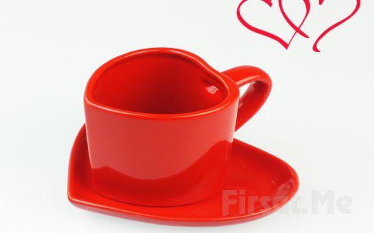 Kalp Tasarımlı Seramik Kupa!