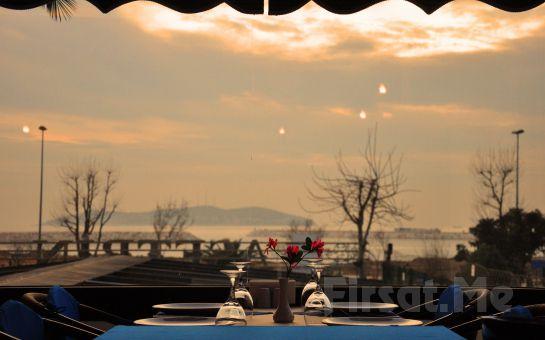 Küçükyalı Asetrin Balık Gourmet'te Denize Karşı Mükemmel Bir Serpme Kahvaltı Keyfi