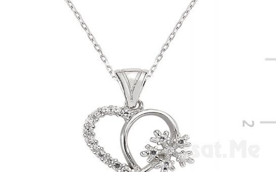GUMUSH 925 Gümüş Kalbimin Kelebeği Kolye (Ücretsiz Kargo)