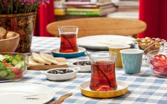 Kadıköy Nabizade Konağı'nda Serpme Kahvaltılıklar + Sigara Böreği + Menemen + Simit ve Sınırsız Çay Eşliğinde Kahvaltı!