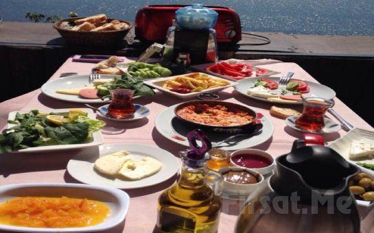Muhteşem Boğaz manzarası eşliğinde Serpme Köy Kahvaltısı + Sahanda Yumurta + Sınırsız Çay!