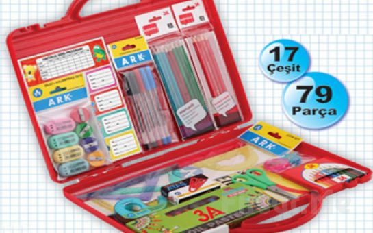 Çocuklarınızın Temel Okul İhtiyacı Olan 79 Parçalık Okul Seti