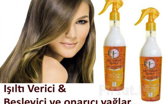 Kolay Taranan, Sağlıklı, Işıltılı Saçlara Kavuşmak İçin Doğal Argan ve Jojoba Yağlı Artemis Natural Saç Bakım Spreyi