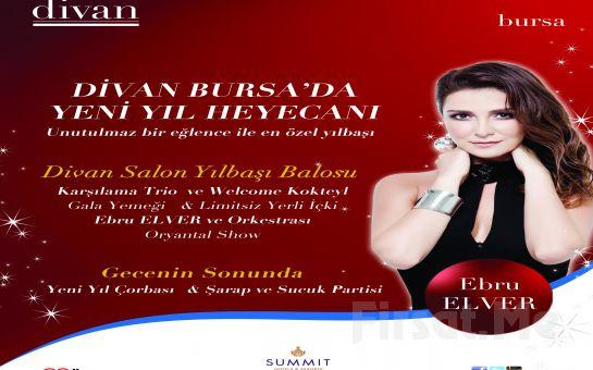 Divan Bursa'da yeni Yıl Heyecanı! Canlı Müzik, Oryantal ve Zengin Menü Eşliğinde 2 Kişilik Yılbaşı Balosu ve Konaklama Fırsatı! (Sınırsız İçki Dahil)
