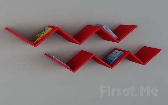 Dekorister Modüler Mobilya'dan, Dekorister Zig Zag Kitaplık Fırsatı