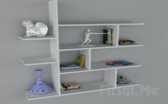 Duvara Monte Kitaplık mı Arıyorsunuz? 2 Ayrı Renk Dekorister (Motif Kitaplık-2) Fırsatı