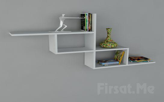 Duvara Monte Kitaplık mı Arıyorsunuz? 2 Ayrı Renk Seçeneği ile Dekorister Motif Kitaplık - (1) Fırsatı!
