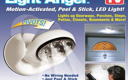 Kablosuz ve Pilli, 360°Dönebilen Light Angel Sensörlü Duvar Lambası Fırsatı!