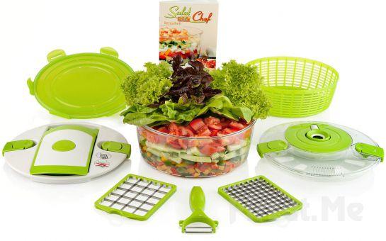 Çok Amaçlı Mekanik Doğrayıcı Genius Salat Chef Fırsatı