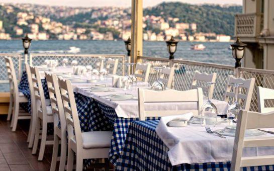 Boğaza Sıfır Ortaköy Bodrum Restaurant'ta Serpme Kahvaltı Keyfi