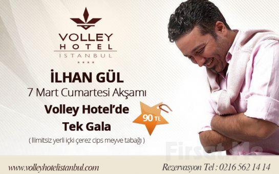 Üsküdar'ın Tarihi Güzelliği Eşliğinde Volley Hotel İstanbul'da İlhan Gül Sahnesi Eşliğinde Limitsiz Yerli İçki, Çerez, Cips ve Meyve Tabağı Fırsatı