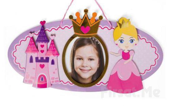 Duvarlarınızı Çockularınızın Fotoğrafı Duvarlarınızı Süslesin! Prenses Konseptli Çerçeve!