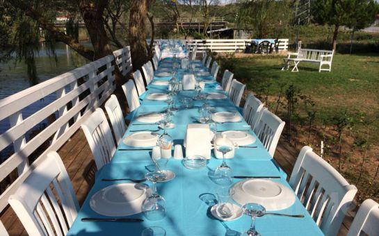 Yeşilçay Manzaralı Ağva Tree Tops Park Restaurant'ta Tavuk ve Köfte Menülerinin Lezzetli Mezelerle Bir Araya Geldiği Enfes İftar Ziyafeti