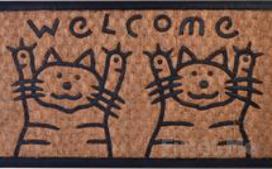 Evinizin Sıcaklığı Dışarıdan Hissedilecek Kediler Welcome Kapı Paspası