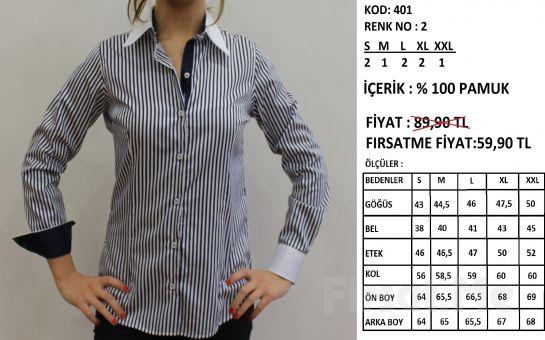 Altegro'dan %100 Pamuklu Kadın Gömlek