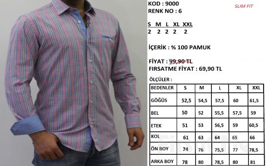 Altegro'dan %100 Pamuklu Extra Slim Fit Erkek Gömlek!