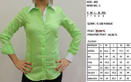 Altegro'dan %100 Pamuklu Kadın Gömlek (ücretsiz Kargo)