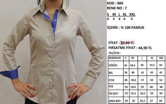 Altegro'dan %100 Pamuklu Kadın Gömlek! (ücretsiz Kargo)