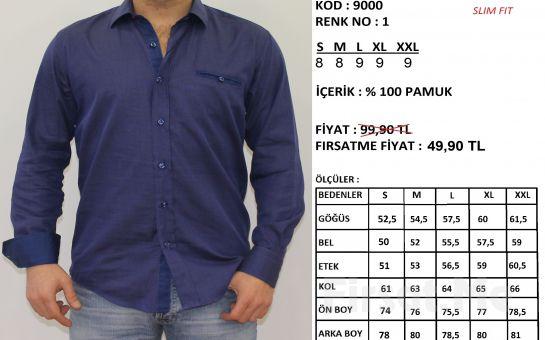 Altegro'dan %100 Pamuklu Extra Slim Fit Erkek Gömlek