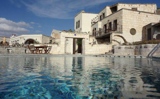 Ürgüp Cappa Villa Cave Hotel ve Spa'da İki Kişilik Odada 1 Gece Konaklama, Kahvaltı, Açık Havuz Kullanımı ve Balon Turu