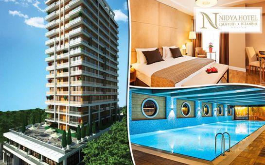 Nidya Hotel, Suites Esenyurt'ta Kahvaltı Dahil Single veya Double Konaklama Seçenekleri
