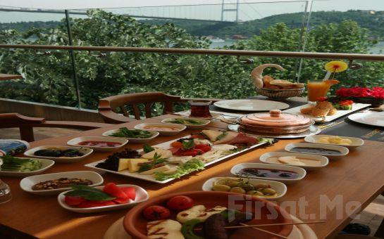 Rumeli Hisarı Seyir Terrace Restaurant'ta Muhteşem Boğaz Manzarası Eşliğinde Serpme Kahvaltı Keyfi!