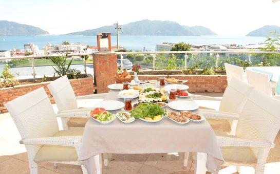 Marmaris Aqua Dream Water Park Tepe Restaurant'ta Serpme Kahvaltı, Leziz Yemek veya Şarap Menü Fırsatları