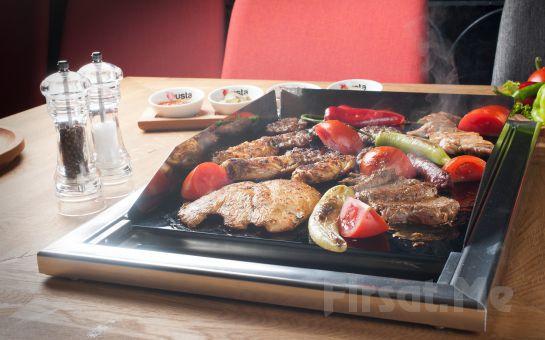@Usta Nef 11 Kağıthane'de Cam Mangalda Pişen Izgara ve Sağlıklı Salata Menüleri