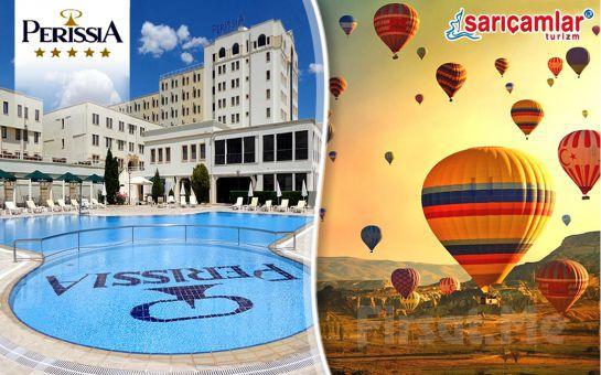 Sarıçamlar Turizm'den 5* Perissia Hotel Cappadocia Otel Konaklamalı, Tur, Türk Gecesi ve Balon Turu Seçenekleri