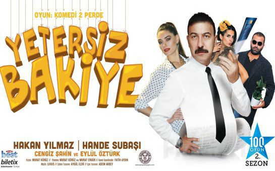 """Kahkahası Bol Komedi Oyunu """"YETERSİZ BAKİYE"""" Tiyatro Bileti!"""