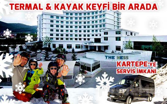5 Yıldızlı The Ness Thermal Otel'de 1 kişi YP Plus Konaklama + Açık Havuz + Termal Havuz + SPA veya Kese & Köpük + Masaj Fırsatı!