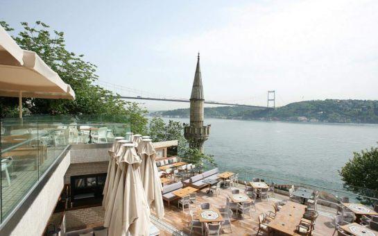 Rumeli Hisarı Altın Gramofon Restaurant'ta Muhteşem Boğaz Manzarası Eşliğinde Serpme Kahvaltı Keyfi!