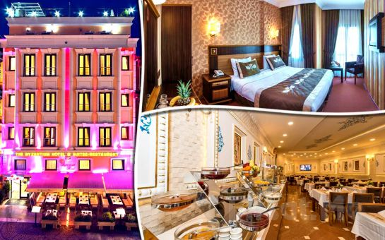 The Byzantium Hotel Sultanahmet'de Çift Kişilik Konaklama, Türk Hamamı ve Spa Keyfi