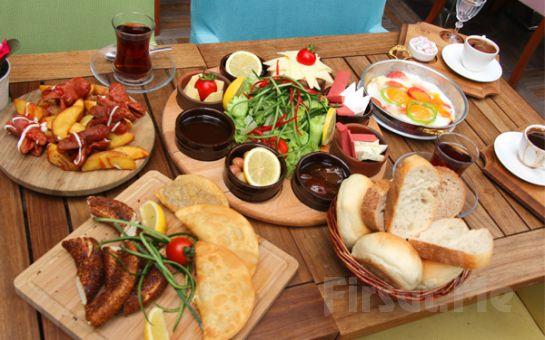 Demetevler Keyfimin Kahvesi'nde Sınırsız Çay Eşliğinde 2 Kişilik Leziz Köy Kahvaltısı ve Türk Kahvesi Keyfi!