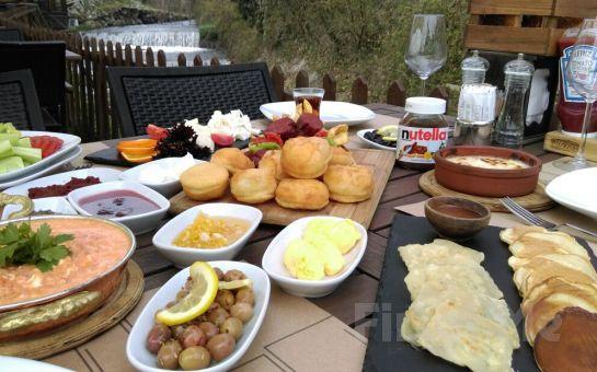 The Garden Sapanca'da Şelale Kenarında Sınırsız Çay Eşliğinde Serpme Kahvaltı Keyfi