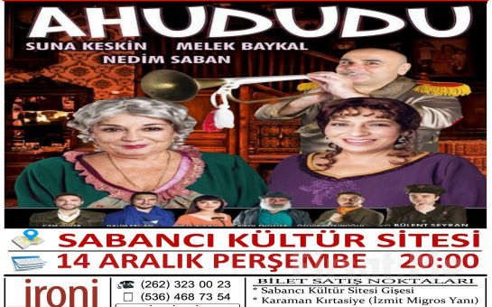 Suna Keskin, Melek Baykal ve Nedim Saban'ın Muhteşem Performansları ile Ahududu Tiyatro Oyun Bileti