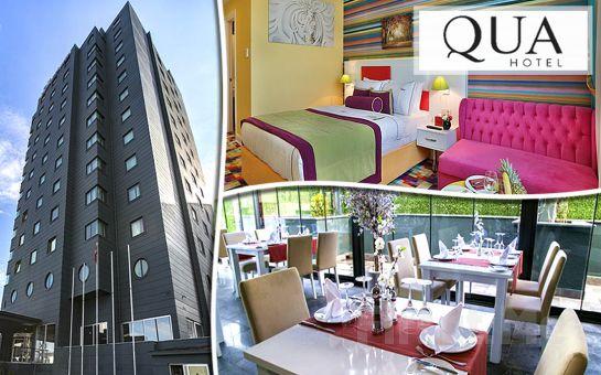 5 *'lı Qua Hotel Atatürk Airport Bağcılar'da Canlı Müzik Eşliğinde Yılbaşı Galası veya Shiska Cafe'de Eğlence, Konaklama Seçenekleriyle
