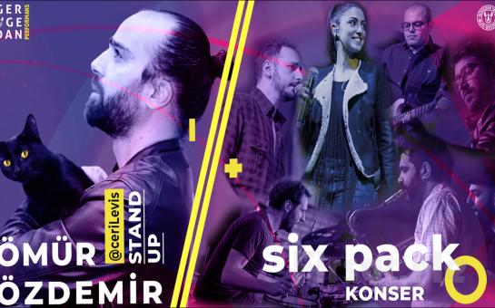 Tiyatro ve Konser Bir Arada Ömür Özdemir'in Yazıp, Oynadığı FAZLA ŞAAPMA Stand Up Gösterisi ve Six Pack Konser Bileti