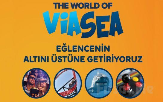 Eğlence Adası The World Of Viasea'da, Tema Park, Sinema, Akvaryum ve Game Center Sınırsız Giriş Kartı