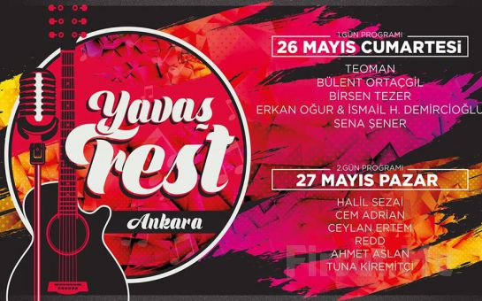 26-27 Mayıs'ta Ankara ODTÜ Vişnelik Tesislerinde YavaşFest Festivali Konser Giriş Bileti