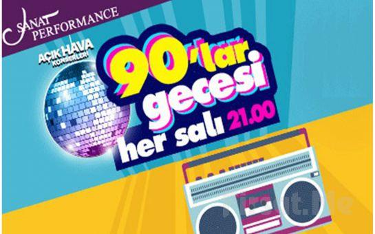 Beyoğlu Sanat Performance'ta Her Salı 90'lar Gecesi Açık Hava Konser Bileti
