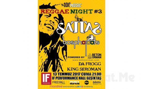 IF Performance Hall Beşiktaş'ta 13 Temmuz'da Reggae Night 3 Konser Bileti