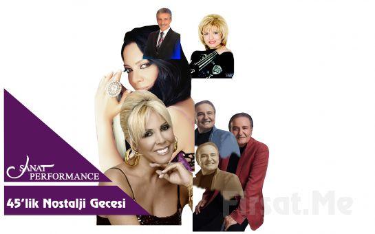 Beyoğlu Sanat Performance'ta 29 Eylül'de Canlı 45'lik Nostalji Gecesi