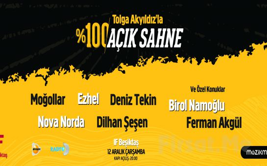 IF Performance Hall Beşiktaş'ta 12 Aralık'ta Tolga Akyıldız'la %100 Açık Sahne Konser Bileti