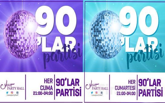 Beyoğlu Sanat Party Hall'de Her Cuma ve Cumartesi 90'lar Türkçe Pop Party Bileti